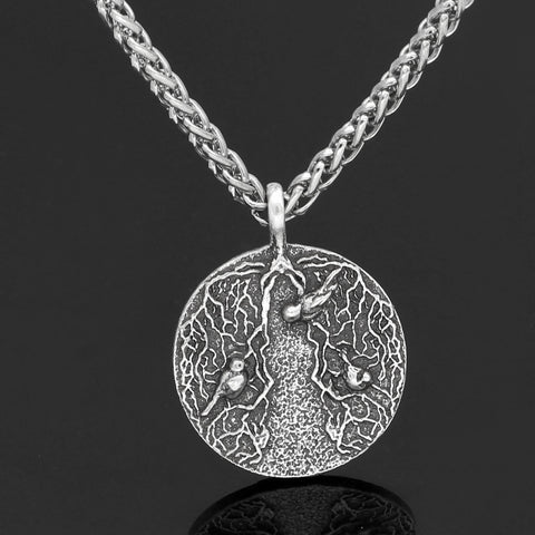 Image of 1stIceland Jewelry, Norse Vikings Yggdrasil Tree Of Life Stainless Steel Necklace - 1st Iceland