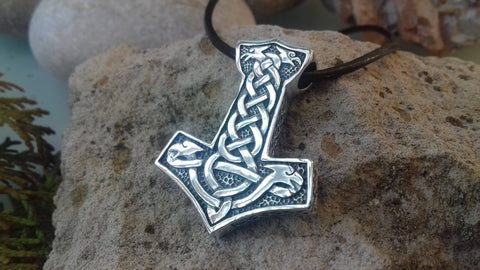 1stIceland Jewelry, Norse Vikings Thor's Hammer Stainless Steel Necklace - 1st Iceland