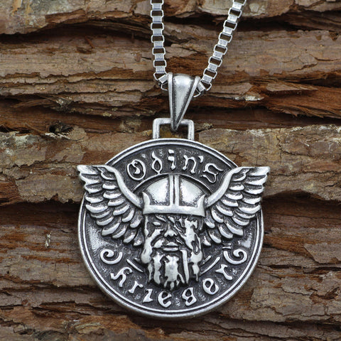 Image of 1stIceland Jewelry, Norse Vikings Odin Pendant Stainless Steel Necklace - 1st Iceland