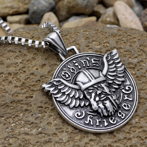 1stIceland Jewelry, Norse Vikings Odin Pendant Stainless Steel Necklace - 1st Iceland