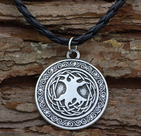 Image of 1stIceland Jewelry, Norse Vikings Tree Of Life Stainless Steel Necklace - 1st Iceland