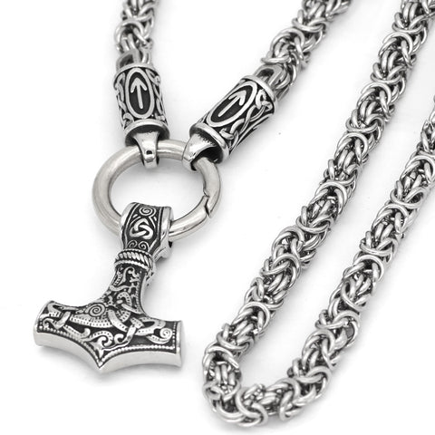 1stIceland Jewelry, Norse Vikings Thor Hammer Stainless Steel Necklace - 1st Iceland