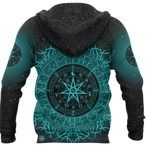 Image of 1stIceland Protection Symbol Hoodie Runic Witches Runes K8 - 1st Iceland
