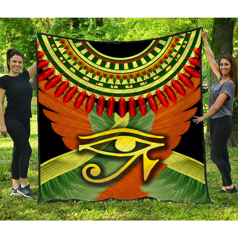 Image of 1stIceland Horus Eye Premium Quilt Ankh Egypt Eagle Wings K8 - 1st Iceland