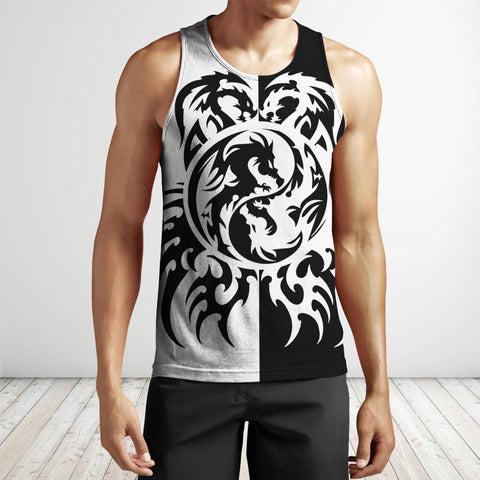 1st Iceland Dragon Tattoo Art Hoodie Men's Tank Top TH12 - 1st Iceland