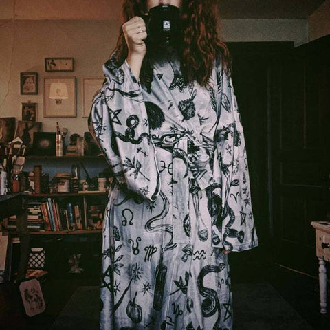 Wiccan Velour Robe TH7