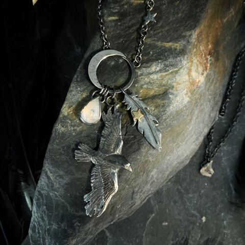 Great Mystical Raven Necklace