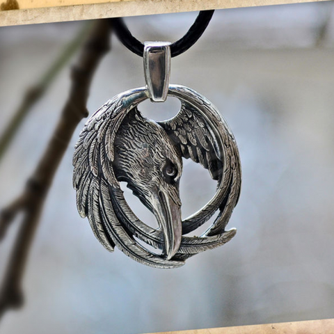 Norse Pagan Raven Necklace