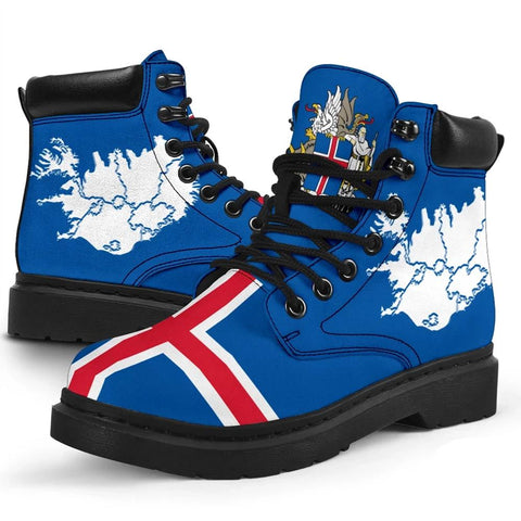 1stIceland Boots, Iceland Flag Map Coat Of Arms Th5 - 1st Iceland