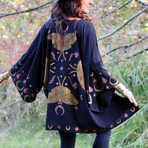 Image of Moth Queen Fringe Kimono TH19 - 1st Iceland