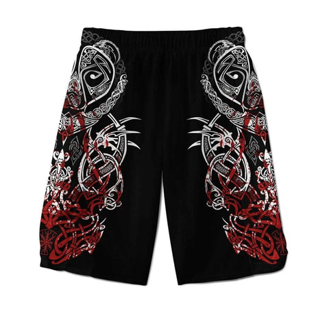 1stIceland Viking Men Shorts, Bear Berserker The Norse Warrior TH00 - 1st Iceland