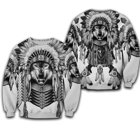 1st Iceland Wolf Native American Sweatshirt Classic Style TH12 - 1st Iceland
