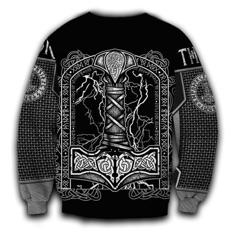1stIceland Viking Sweatshirt Thor Hammer Beautiful TH12 - 1st Iceland