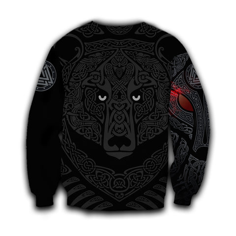 1stIceland Viking Angry Moon Wolf Sweatshirt TH12 - 1st Iceland