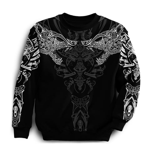Image of 1stIceland Geki & Freki Viking Wolf Sweatshirt TH12 - 1st Iceland