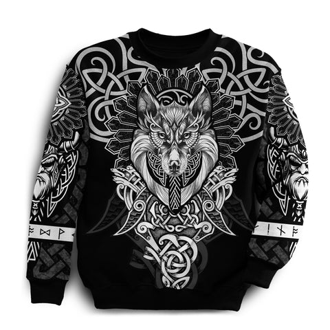 1st Iceland Wolf Inspired Viking Sweatshirt TH12 - 1st Iceland