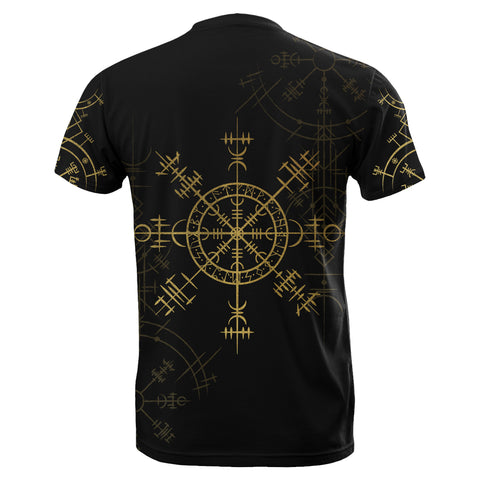 1stIceland Magic Ancient Viking Tattoo T-Shirt Gold TH4