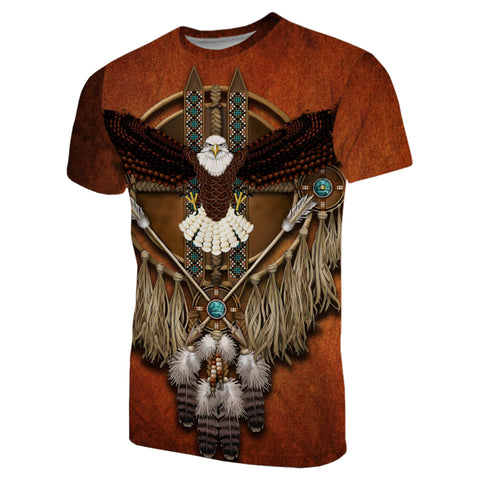1stIceland Native American T-Shirt Eagles Dreamcatcher TH4 - 1st Iceland