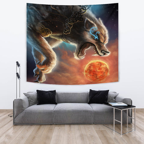 1stIceland Viking Tapestry, Fenrir Norse Wolf K5 - 1st Iceland