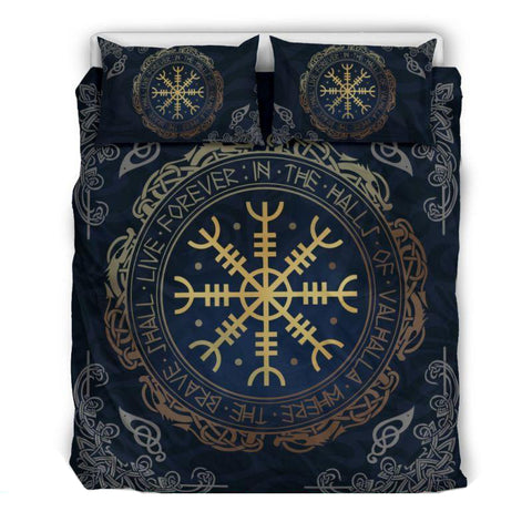 Image of 1stIceland Viking Bedding Set, Helm Of Awe Aegishjalmur BN02 - 1st Iceland