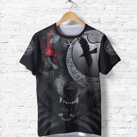 1stIceland Viking Angry Moon Wolf T-Shirt TH12 - 1st Iceland