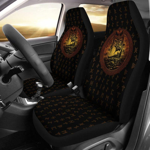 1stIceland Viking Car Seat Covers, Odin's Warrior Drakkar Runes K5 3 - 1st Iceland