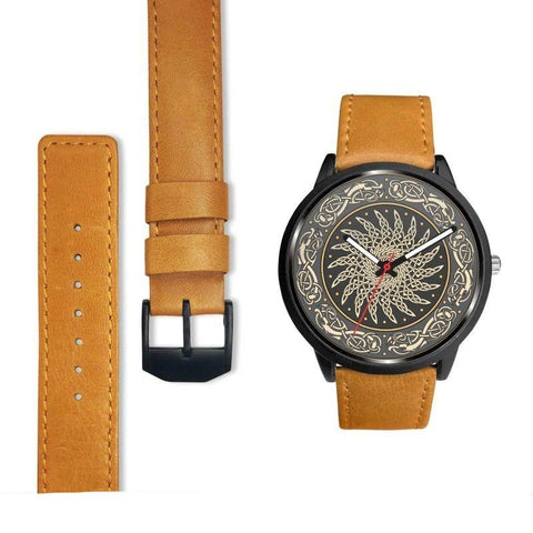 Image of 1stIceland Viking Leather/Steel Watch, Design 02 - Bn02 - 1st Iceland
