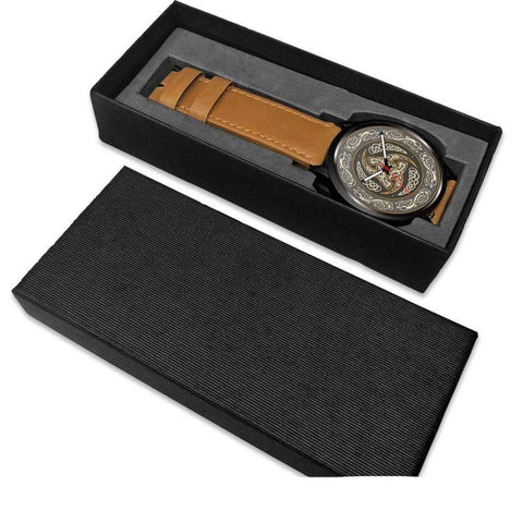 1stIceland Viking Leather/Steel Watch, Horn Of Odin 05 - Bn02 - 1st Iceland