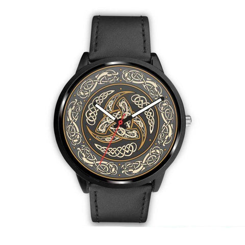 Image of 1stIceland Viking Leather/Steel Watch, Horn Of Odin 05 - Bn02 - 1st Iceland