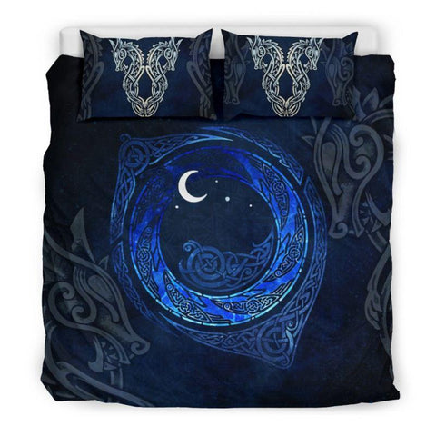 1stIceland Viking Bedding Set, Odin's Eye Fenrir Skoll And Hati BN04 - 1st Iceland