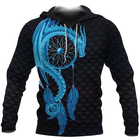 Image of Dragon Dreamcatcher Hoodie Blue K4 - 1st Iceland