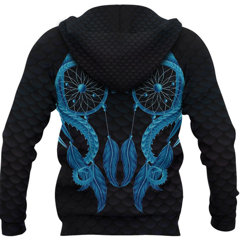 Image of Dragon Dreamcatcher Zip Hoodie Blue K4 - 1st Iceland
