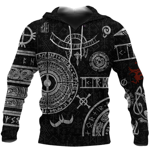 1stIceland Viking Hoodie, Baldur Norse Mythology Tattoo K4 - 1st Iceland