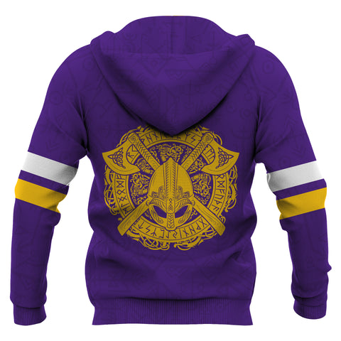 1stIceland Viking Pullover Hoodie, Odin's King Of The North K4 - 1st Iceland