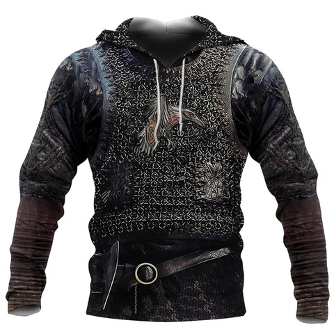Image of 1stIceland Viking Pullover Hoodie, Raven 3D Armour TH00 - 1st Iceland