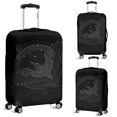 Image of 1stIceland Viking Luggage Cover, Odin's Raven Runes Nn8 - 1st Iceland