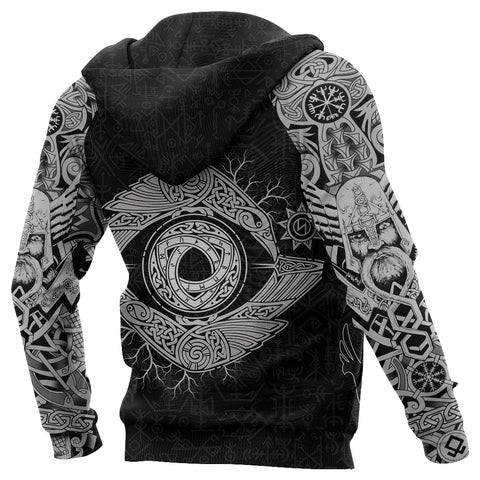 1stIceland Viking Zip Up Hoodie, Odin's Eye with Raven K4 - 1st Iceland