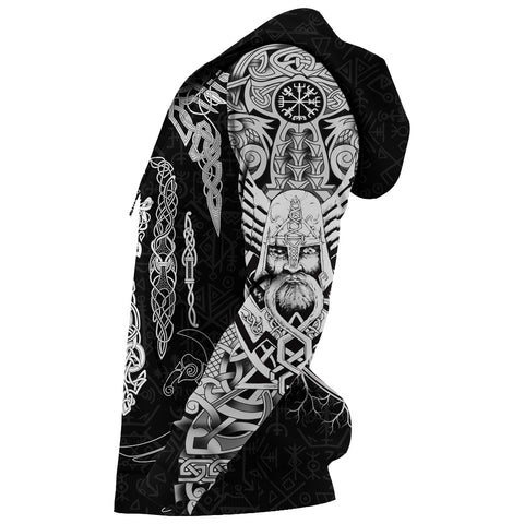 1stIceland Viking Hoodie, Odin's Eye with Raven K4 - 1st Iceland