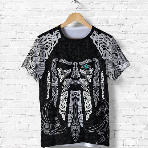 Image of 1stIceland Viking T-Shirts, Odin's Eye with Raven K4 - 1st Iceland