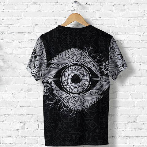 1stIceland Viking T-Shirts, Odin's Eye with Raven K4 - 1st Iceland