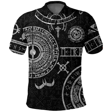 1stIceland Viking Polo T-Shirts, Baldur Norse Mythology Tattoo K4 - 1st Iceland