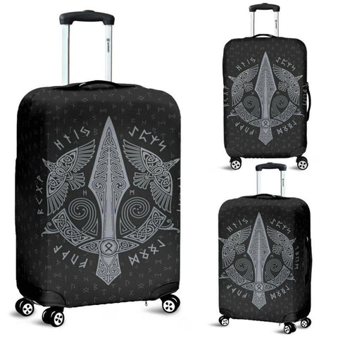 1stIceland Viking Luggage Cover, Odin's Spear Ravens Runes Nn8 - 1st Iceland