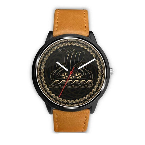 Image of 1stIceland Viking Leather/Steel Watch, Drakkar Dm9 - 1st Iceland