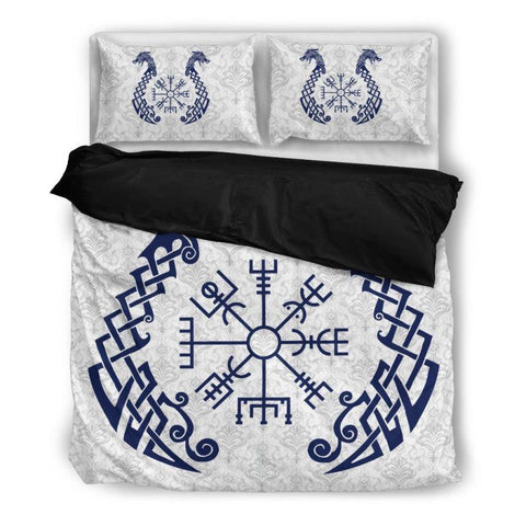 1stIceland Viking Bedding Set - Vegvisir Dragon  A0 - 1st Iceland