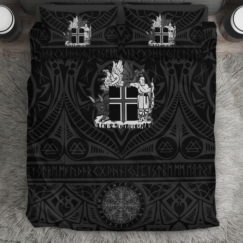 1stIceland Viking  Bedding Set, Iceland Coat Of Arms Helm Of Awe K4 - 1st Iceland