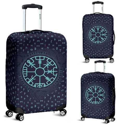 1stIceland Viking Luggage Cover, Vegvisir Runes Nn8 - 1st Iceland