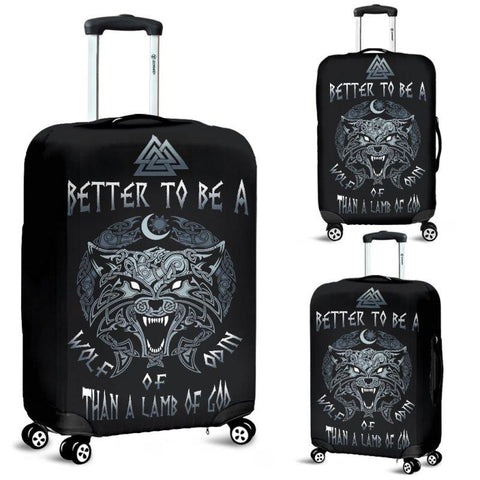 1stIceland Viking Luggage Cover, Fenrir Better To Be A Wolf Wolf Of Odin Than A Lamb Of God A3 - 1st Iceland