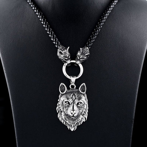 Image of Wolf Viking Necklace And Fenrir Wolf Pendant TH17 - 1st Iceland