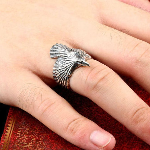 Image of Odin's Raven Ring- Sterling Silver TH17 - 1st Iceland