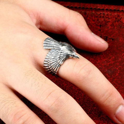 Odin's Raven Ring- Sterling Silver TH17 - 1st Iceland